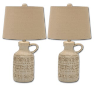 Annabella Ceramic Jug Table Lamp 3 Way (Set of 2)