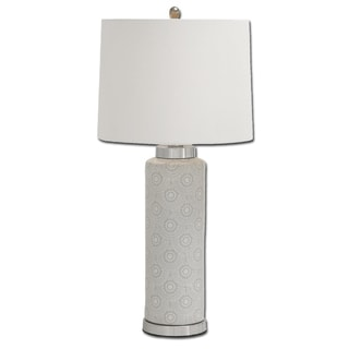 Artisan Scallop Design Tall Ceramic Table Lamp