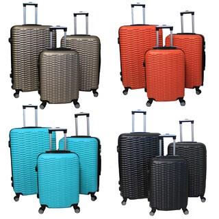 World Traveler Mileage Plus 3-piece Lightweight Hardside Expandable Spinner Luggage Set