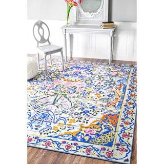 nuLOOM Fancy Floral Persian Tiles Multi Rug (5'4 x 5'11)