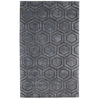 Onix Over Tufted Wool Blend Rug (8' x 10')