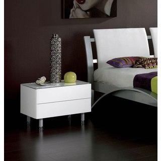 Luca Home White Nightstand