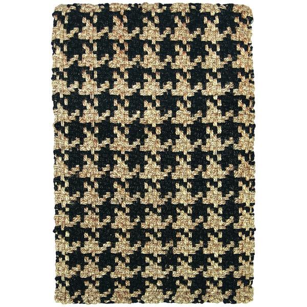 Lad Houndstooth Black Rug (8' x 10')