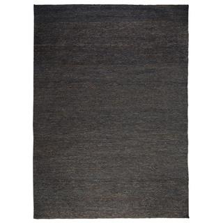 Tessa Soumak Natural Fiber Jute Charcoal Rug (8' x 10')