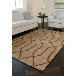 Kosas Home Arrow Soumak Natural Fiber Jute Rug (5' x 8')