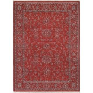 Couristan Elegance Althea Scarlet/ Beige Area Rug (4'7 x 6'4)