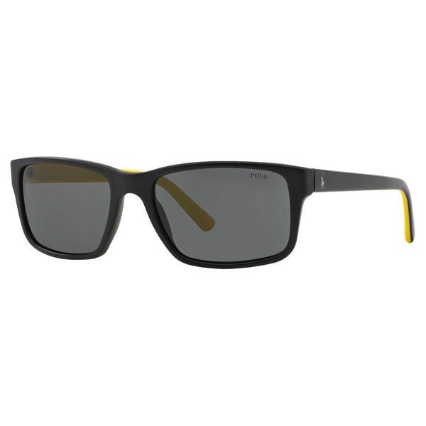 Polo Ralph Lauren Men's PH4076 Plastic Rectangle Sunglasses