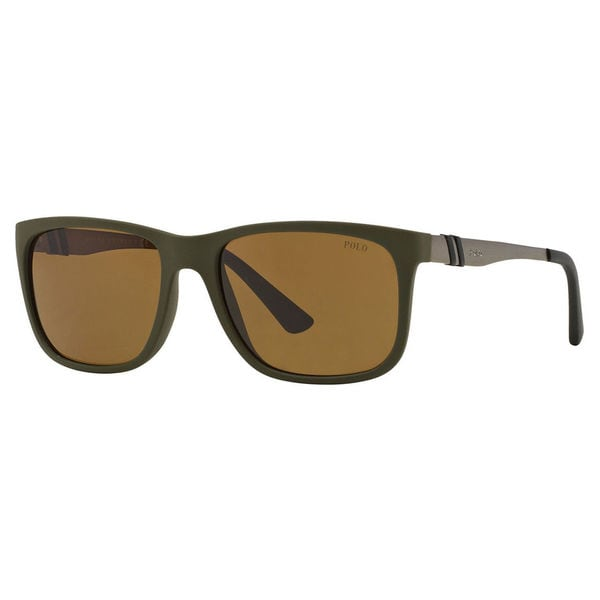 Polo Ralph Lauren Men's PH4088 Plastic Rectangle Sunglasses