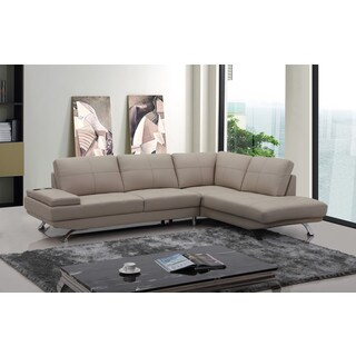 Divani Casa Knight Modern Beige Leather Sectional Sofa