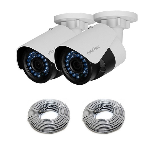 LaView HD 2.0MP PoE IP 4mm Indoor/ Outdoor Weatherproof Security Camera (Pack of 2)