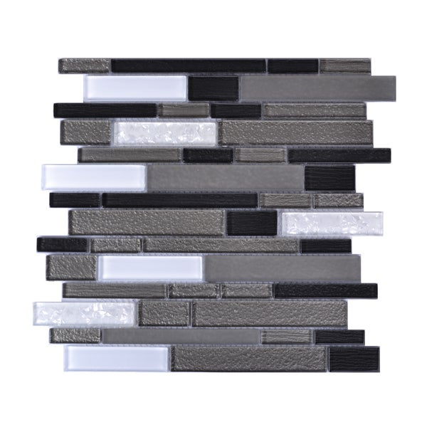 Mesh-Mounted 3D-effect Mosaic Wall Tile (Pack of 6)