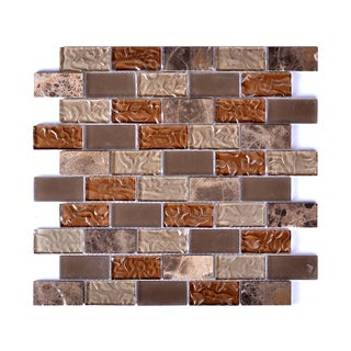 6 sq.ft. Mesh-Mounted Taupe/ Beige/ Brown Mosaic Wall Tile (Pack of 6)