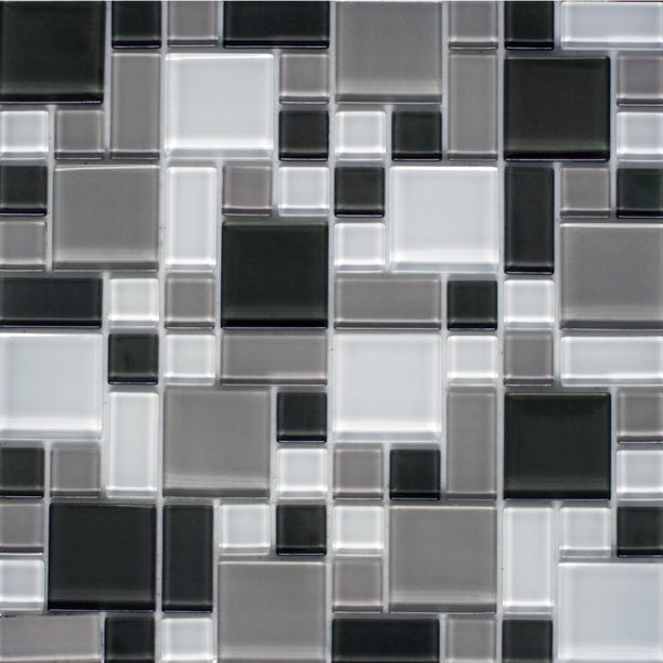 instant mosaic 12 inch x 12 inch peel and stick glass tile