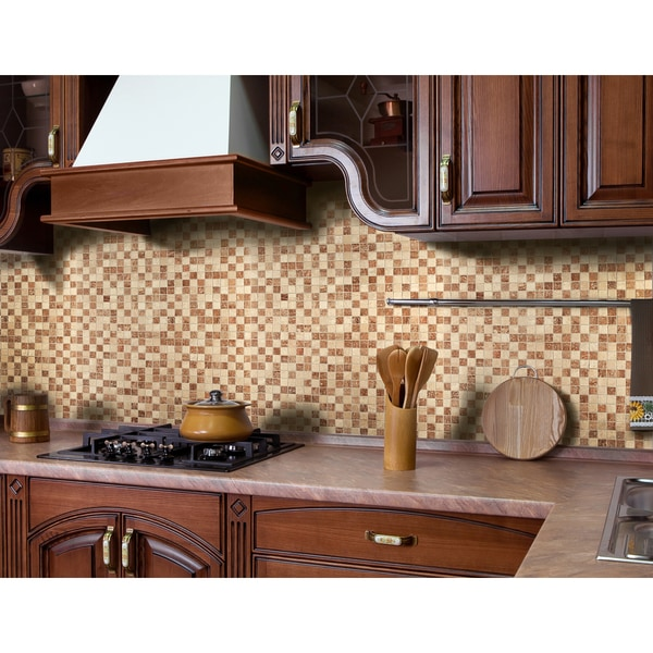 Instant Mosaic 12-inch x 12-inch Peel and Stick Natural Stone Tile (6 sq.ft.)