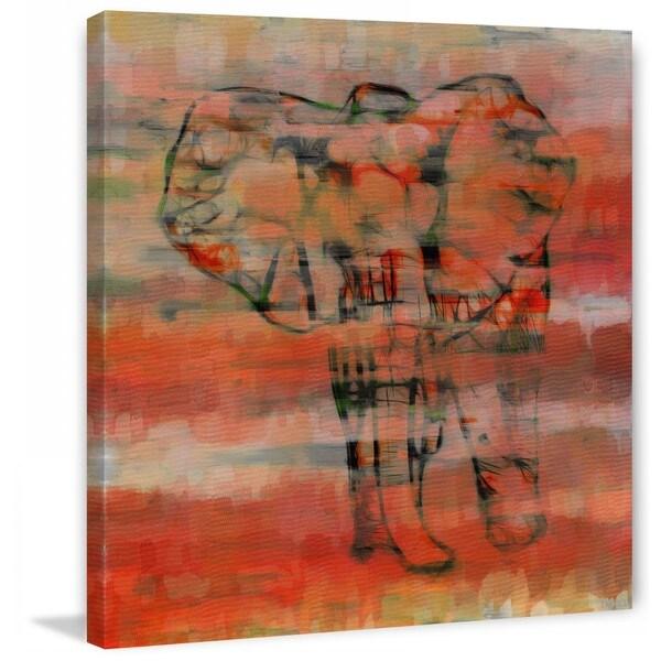"Parvez Taj - ""Red Elephant"""" Print on Canvas"