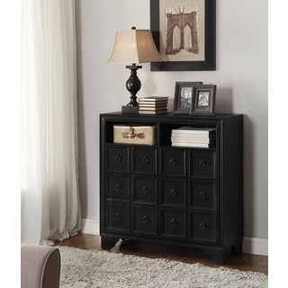 Christopher Knight Home Classic Black Two Door One Drawer Media Cabinet