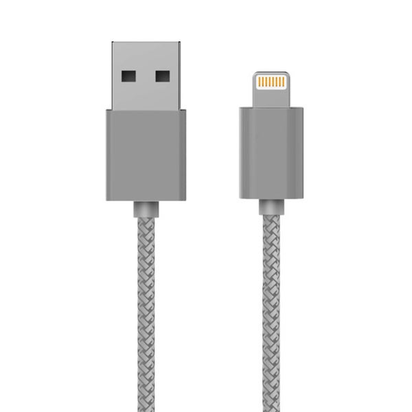 MaximalPower 3.3-foot Grey MFi Certified Lightning USB 2.0 Cable