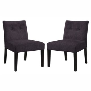 Angelo Home Bradstreet Parisian Aubergine Purple Chair Set (Set of 2)