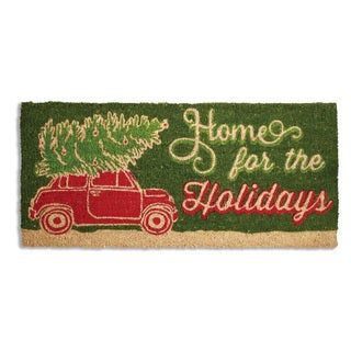 Home For The Holidays Coir Doormat