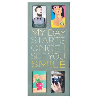 Melannco 4 Opening My Day Starts Once I See You Smile Collage Picture Frame