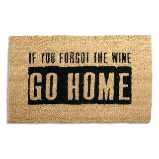 Where'S The Wine? Coir Doormat