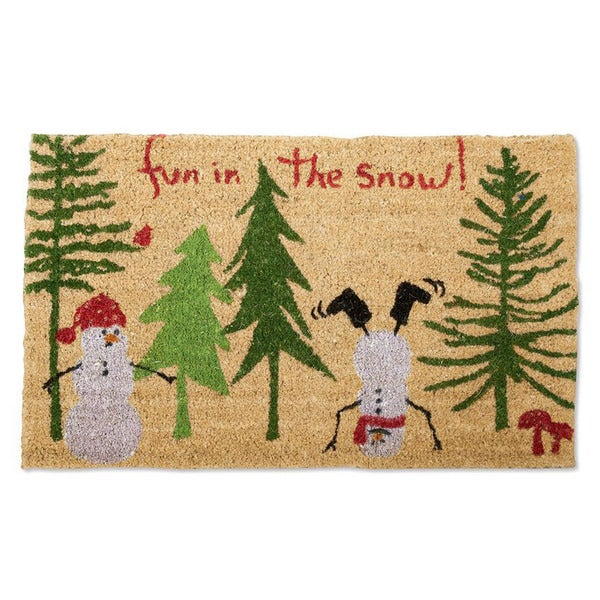 Fun In The Snow Coir Doormat