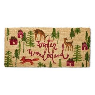 Winter Wondrlnd Estate Coir Doormat