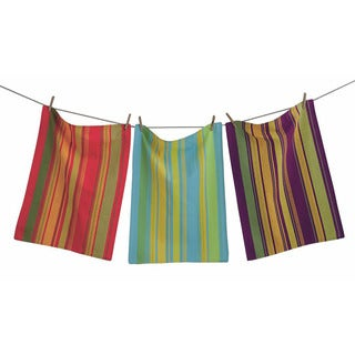 Jardin Woven Stripe Kitechen Towels (Set of 3)