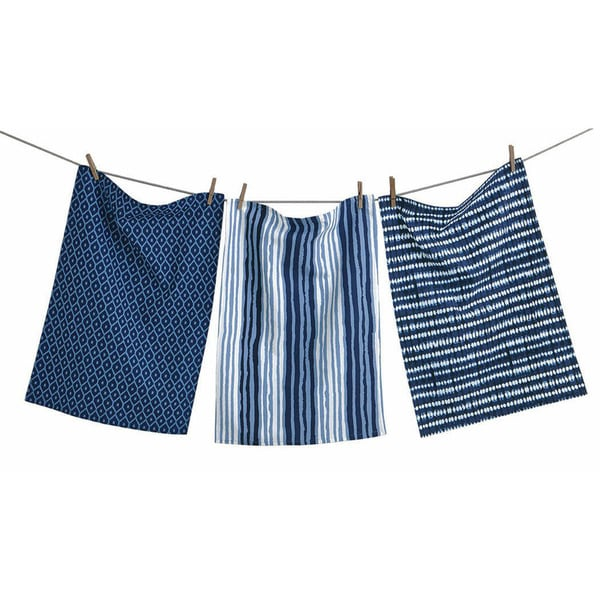 Indigo Artisan Dishtowels (Set of 3)