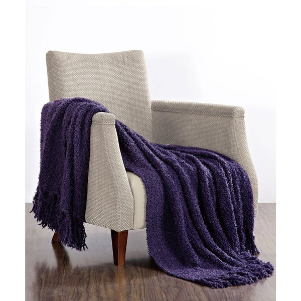BNF Home Fluffy Woven Throw Blanket