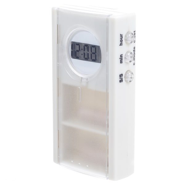 Remedy Pill Box with Digital Timer and Alarm Reminder
