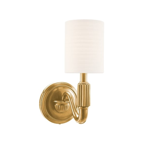 Hudson Valley 401-AGB Tuilerie Wall Sconce in Aged Brass 16021323