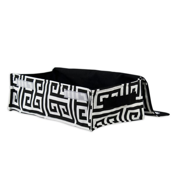 Soft Sided Towers Black Storage Container with Canvas Handle