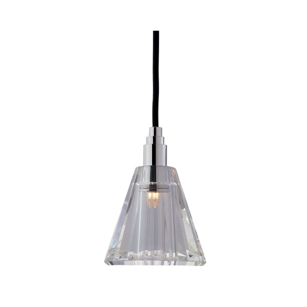 Hudson Valley Naples Chrome Small Black Cord Pendant, Cone