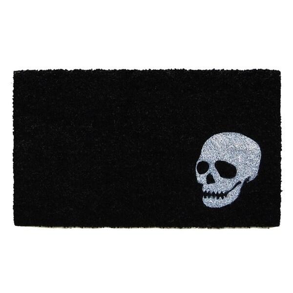 White Skull Doormat