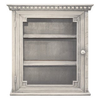 Architectural Wall Cabinet, Whitewashed Finish
