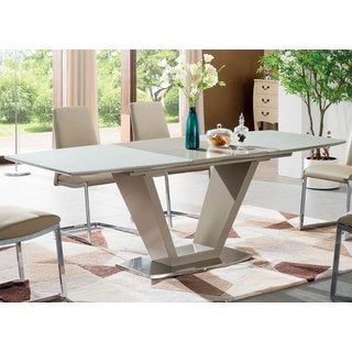 Luca Home Cappucino/ White Dining Table