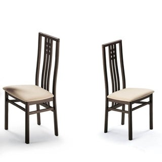 Luca Home Cappuccino Dining Chairs (Set of 2)