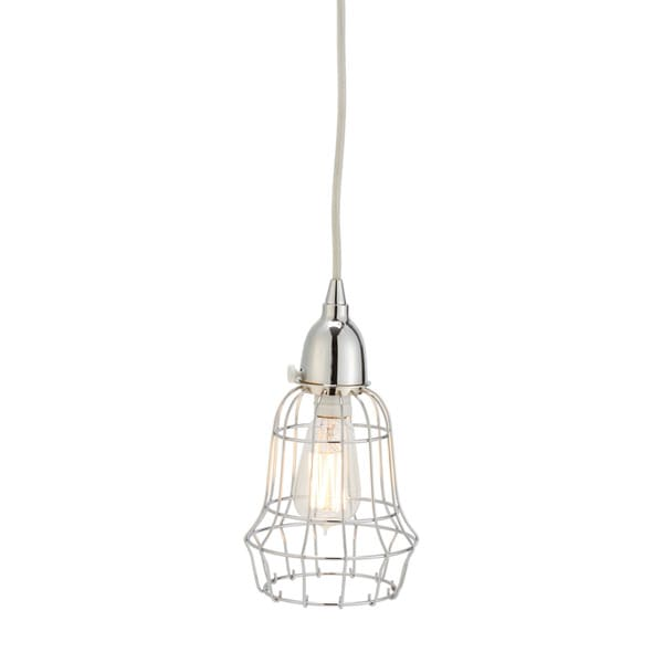 Dimond Home Silver Wire Barrel Pendant Light