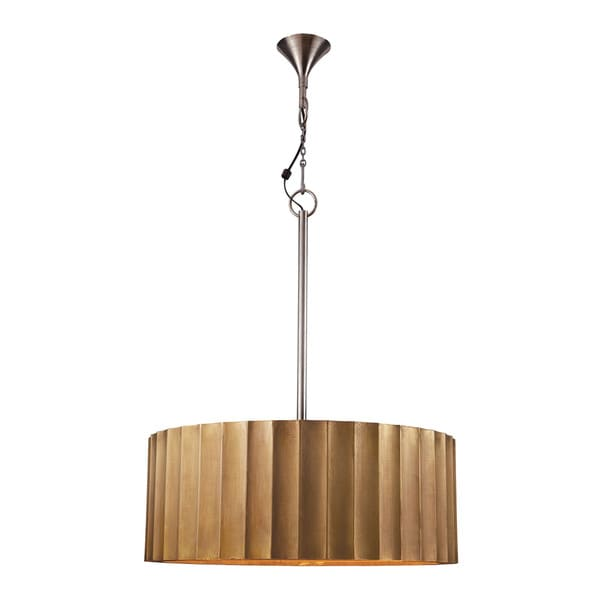 Lazy Susan Large Brass Clad Ribbed Pendant 16029606