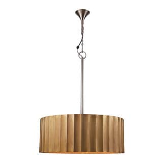 Dimond Home Large Brass Clad Ribbed Pendant