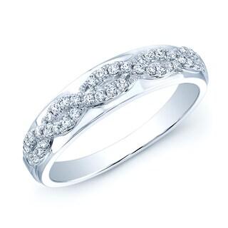 Estie G 14k White Gold 1/5ct TDW Diamond Band (H-I, VS1-VS2)