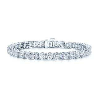 Estie G 18k White Gold 17 3/4ct TDW Diamond Bracelet (H-I, VS1-VS2)