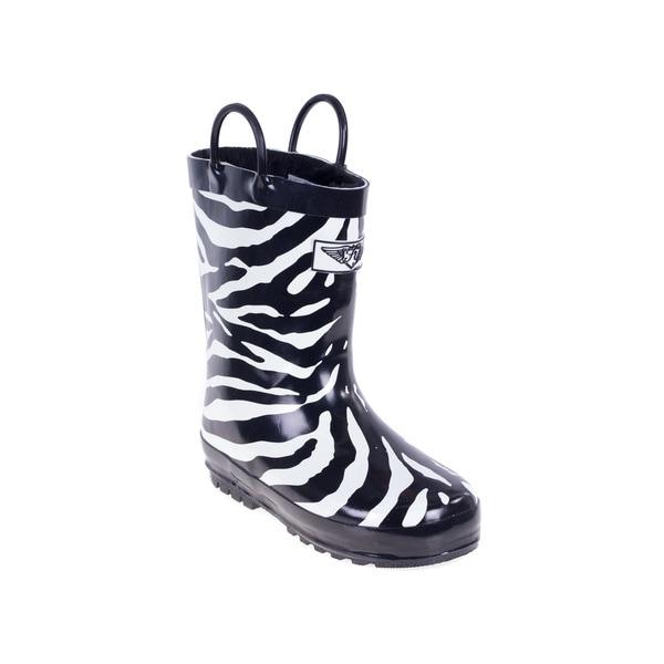 Kids' Zebra Rain Boots