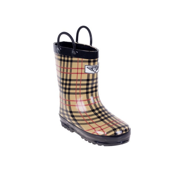 Kids' Checker/ Plaid Rain Boots