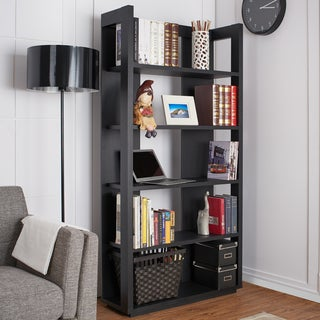 Furniture of America Bollis Contemporary Black 5-Shelf Bookcase