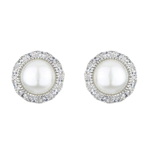 Imitation Pearl Stud Earrings