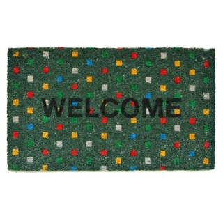 Polka Dot Welcome Doormat