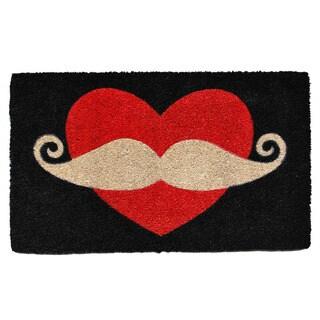 Moustache Love Doormat
