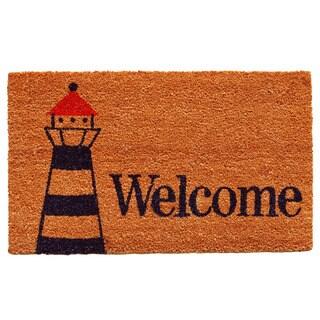 Lighthouse Welcome Doormat